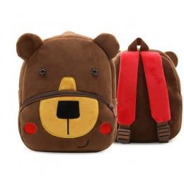 Soft Brown Bear Backpacks Lightweight Plush Backpack for Toddler Boys
