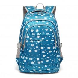School Backpacks Girls Blue Bookbags