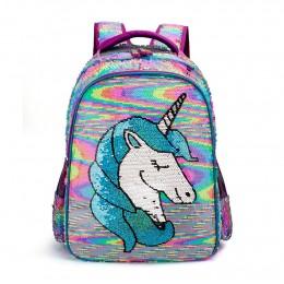 Unicorn School Backpack Set For Girls Elementary Kids Bookbag