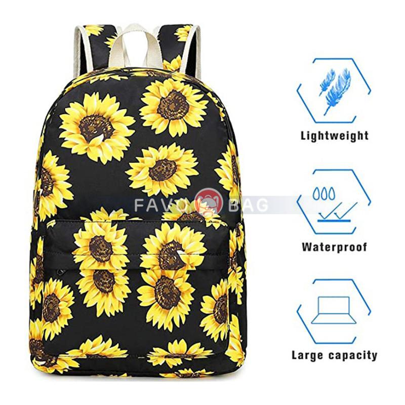 Canvas School Backpack Set Lightweight Teen Girls Women Kids School Bags