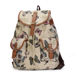 Butterfly Prints Canvas School College Backpack