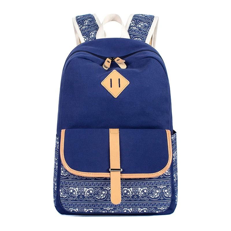 Canvas Backpack For Girls School Bag Travel Daypack