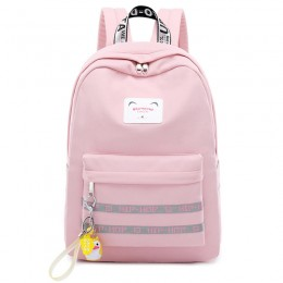 Korean Style Nylon Backpack Girls Waterproof School Bag Travel Bag with Charging Port