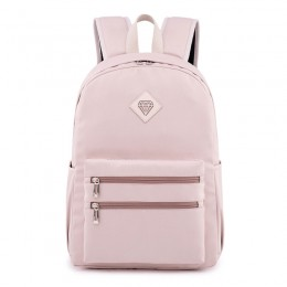 Sweet Candy Color Large Capacity Double Zippers Design Backpack for Teens