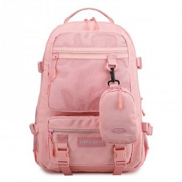 Big Travel Backpack for Teens Multi-Compartment Lightweigt Mesh Backpack with Portable Zippered Bag