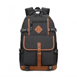 Simple Outdoor Water Resistant Laptop Backpack for Teen Boys