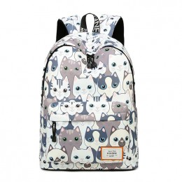 Leisure Backpack For Girls Teenage School Backpack Cat