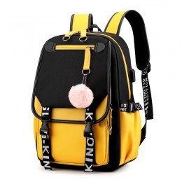 Girl Backpack School Bag With Usb Charging And Headphone Port