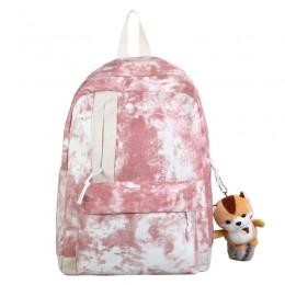 Unisex Canvas Zip Backpack School College Laptop Bag For Teens Girls Students