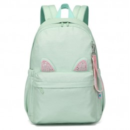 Girls Backpack Cat Ears Kid'S Casual Daypacks School Bag Lightweight