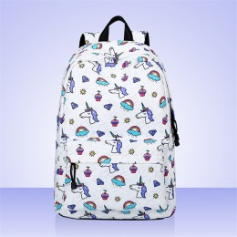 Large Capacity Double Zippers Design Backpack For Girls