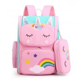 Cartoon 3D Unicorn Children Girls Kids School Backpack Waterproof Primary Schoolbags