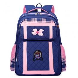 Orthopedic School Backpack Waterproof Children Bow School Bags Girls Kids Princess Primay