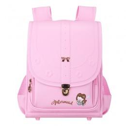 Orthopedic Kids Japanese Randoseru Large Capacity School Backpack For Girls Waterproof Pu