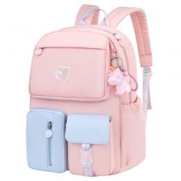 Rainbow Shoulder Strap School Bag For Teenagers Girls Waterproof Backpacks