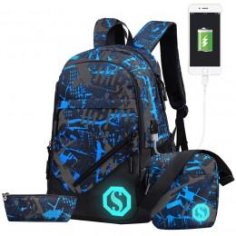Boy Girl Unisex School Bag Backpack with Florescent Mark
