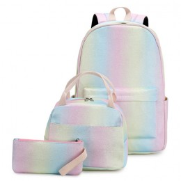 Lightweight Water Resistant Backpacks for Teen Girls School Backpack with Lunch Bag