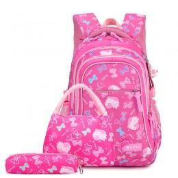 Kid Schoolbag Student Shoulder Bookbag Set