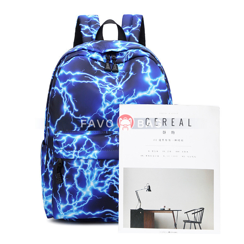 Backpack Set for Middle School Girl Galaxy Prints School Bookbag with Lunch Bag Pencil Case