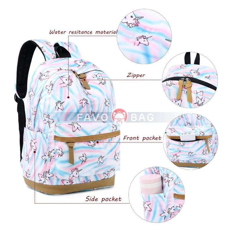 Teens Backpack for School Girls Kids School Bookbag Set Travel Daypack