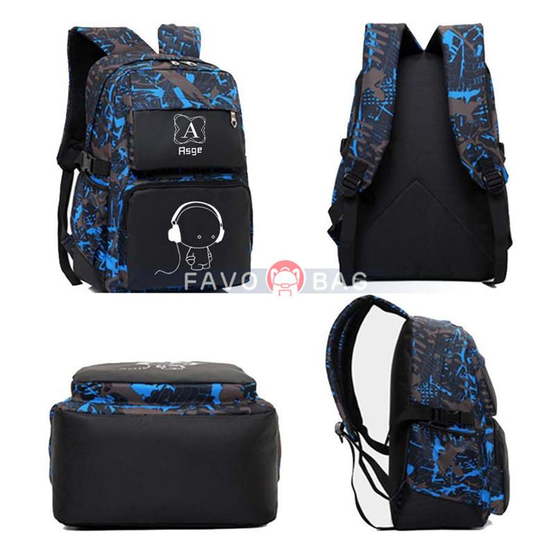 Backpacks for Boys School Bags for Kids Luminous Bookbag and Sling Bag Set