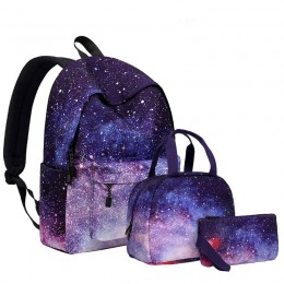 Galaxy School Backpack Set Lunch Bag & Pencil Case Top Level