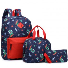 Dinosaur School Backpack For Boys With Lunch Box Pencil Case 3Pcs For Middle School