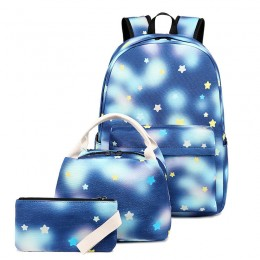 Backpack Kids Girls Kindergarten Backpack With Lunch Box School Bookbags Set