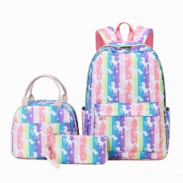 3Pcs Backpack Set With Lunch Box Pencil Case School Book Bag For Kids Elementary Preschool