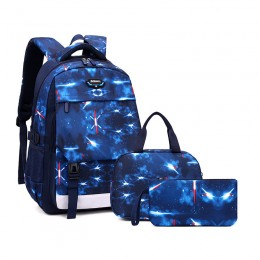 Junior High School And Elementary School Students'Schoolbags Breathable Lightweight And Large-Capacity Men'S Backpacks