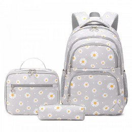 Daisy Bookbag School Backpack For Girls Large Capacity Kids Bags With Lunch Bag