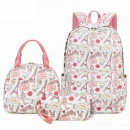 Top Level Cute Summer Backpack Set Cartoon 3 Pieces School Bag Lightweight Bookbag