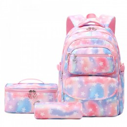 Star School Backpack for Girls Large Capacity Kids Bags with Lunch Bag Book Bags