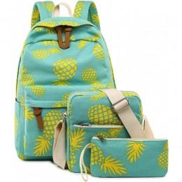 Teen Girls Pineapple Backpack for School Bookbag wtih Crossbody Bag 3 Pcs Set