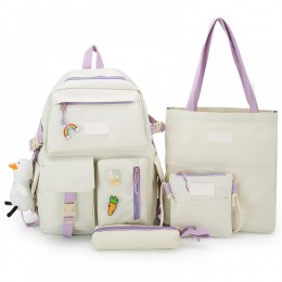 4 Pieces Backpack For School Girls Durable And Cute Bookbag