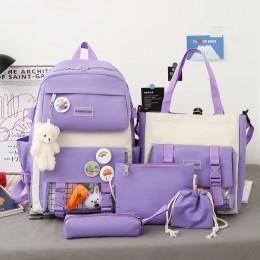 4 Piece Set Cute Women Backpack Sets Kawaii School Bags For Teenager Girls High Capacity School Backpack