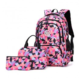 Children School Bags Set Girls Primary Backpack Kids School Backpcak 3 Pcs Princess Schoolbags Kids Children's School Backpacks