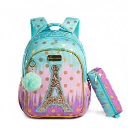 2021 School Bag Backpack For Kids Backpacks For School Teenagers Girls Sequin Tower School Bags For Girls