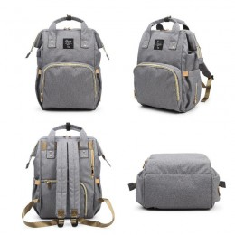 Gray Laptop Backpack Travel Backpack With Usb Charging Port