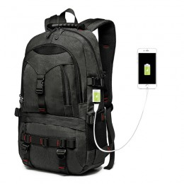 Water Resistant Laptop Backpack Computer School Bag With Usb Charging Port And Lock