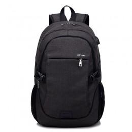 Black Anti Theft Laptop Backpack Travel Backpacks Bookbag With Usb Charging Port
