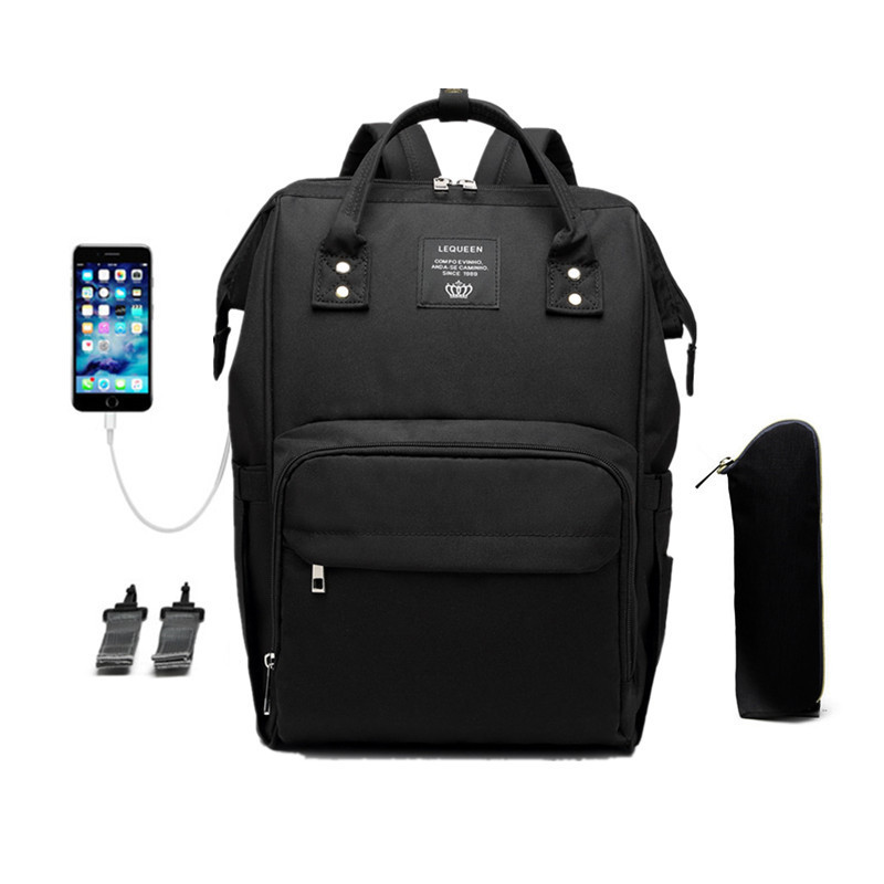 Black Laptop Backpack For Travel Bags Business Computer Purse Work Bag With Usb Port