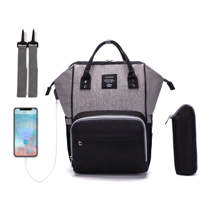 Black And Grey Laptop Backpack For Travel Bags Business Computer Purse Work Bag With Usb Port