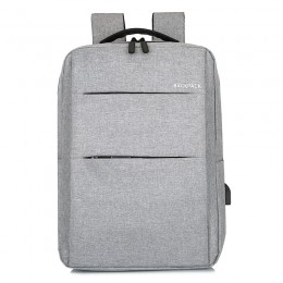 Gray Laptop College Business Travel Backpack Water Resistant Computer Backpack With Usb Charging Port