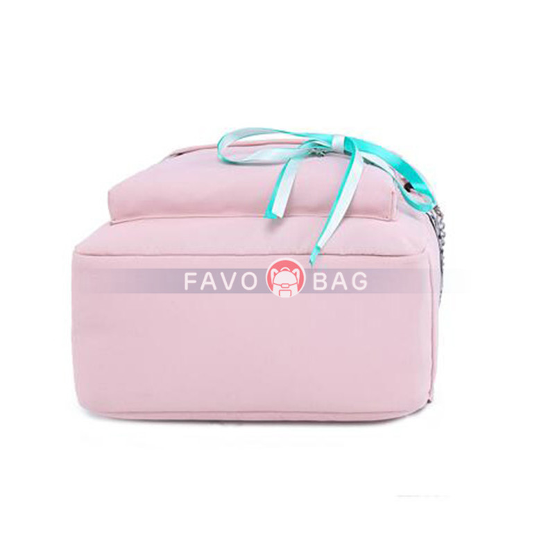 Pink School Backpacks For Teen Girls Book Bag With Usb Charging Port