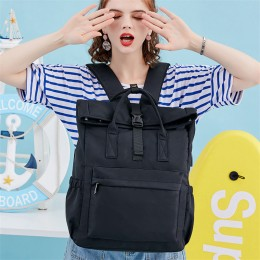 Black Travel Laptop Backpack For Women Huge Capacity Computer Notebook Bag