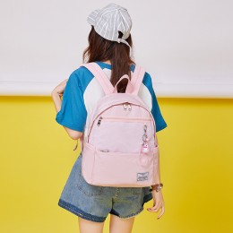 Pink Girls' Casual Oversized Backpack With Usb Charging Port