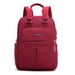 Red Wine Mini Girls Backpack Laptop Travel Bag Handbag With Usb Charging Port