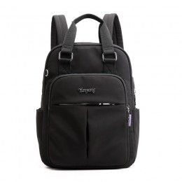 Black Mini Girls Backpack Laptop Travel Bag Handbag With Usb Charging Port