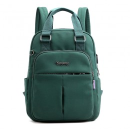 Green Mini Girls Backpack Laptop Travel Bag Handbag With Usb Charging Port